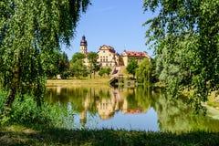 Het kasteel complexe Nesvizh Royalty-vrije Stock Fotografie