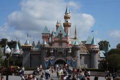 Het Kasteel Disneyland van de Schoonheid van de slaap stock afbeelding