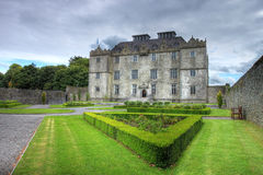 Het Kasteel en de tuinen van Portumna in Ierland. Stock Afbeelding