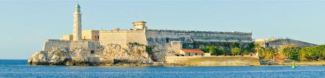 Het kasteel en de vuurtoren van Gr Morro in Havana Royalty-vrije Stock Foto