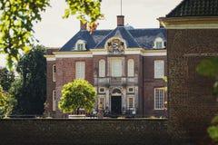 Het kasteel en het landgoed Middachten in DE Steeg in Nederland Royalty-vrije Stock Afbeelding