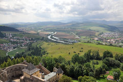 Het kasteel en landschap Slowakije, Europa van Staralubovna Royalty-vrije Stock Fotografie