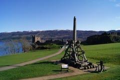 Het Kasteel en Loch Ness van Urquhart Stock Afbeelding