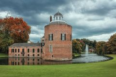 Het kasteel en het park Rosendael in Rozendaal in Nethe wordt gevestigd die Royalty-vrije Stock Foto