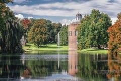 Het kasteel en het park Rosendael in Rozendaal in Nethe wordt gevestigd die Stock Afbeeldingen