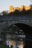Het kasteel Engeland van Ludlow Stock Afbeelding