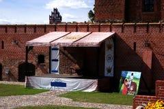 Het kasteel in Gniew Stock Foto's