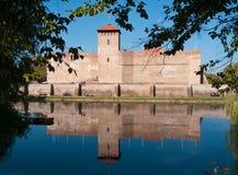 Het kasteel in Gyula, Hongarije Royalty-vrije Stock Foto's