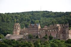 Het Kasteel of Heidelberger Schloss van Heidelberg in baden-Wurttemberg, Duitsland royalty-vrije stock afbeelding
