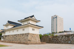 Het kasteel historisch oriëntatiepunt van Toyama in Toyama Japan stock afbeeldingen