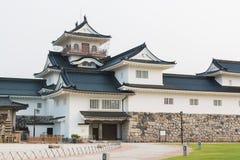 Het kasteel historisch oriëntatiepunt van Toyama in Toyama Japan royalty-vrije stock afbeeldingen