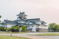 Het kasteel historisch oriëntatiepunt van Toyama in Toyama Japan stock afbeelding