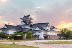 Het kasteel historisch oriëntatiepunt van Toyama in Toyama Japan met mooi s royalty-vrije stock afbeelding