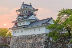 Het kasteel historisch oriëntatiepunt van Toyama in Toyama Japan met mooi s stock foto