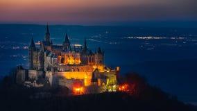 Het kasteel Hohenzollern stock fotografie