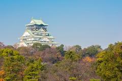 Het kasteel Japan van Osaka Stock Foto's