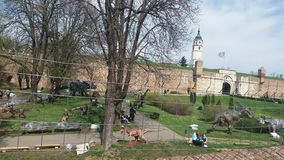 Het kasteel jurasic park van Belgrado Stock Foto