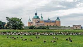 Het kasteel Kalmar Stock Afbeeldingen