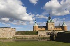 Het kasteel in Kalmar in Zweden Stock Foto