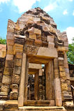 Het Kasteel Khmer kunst van de Sadok kok thom Steen, Thailand Stock Afbeeldingen