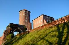 Het kasteel in Krakau Wawel Royalty-vrije Stock Foto