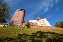 Het kasteel in Krakau Wawel Royalty-vrije Stock Afbeelding
