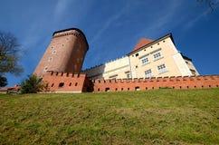 Het kasteel in Krakau Wawel Royalty-vrije Stock Afbeeldingen