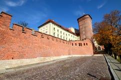 Het kasteel in Krakau Wawel Stock Afbeeldingen