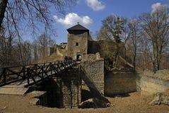 Het kasteel Lukov in Moravië stock fotografie