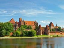 Het kasteel Malbork Stock Foto's