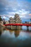 Het Kasteel Matsumoto-PB van Matsumoto, Japanse eerste historische kastelen in easthern Honshu, Matsumoto-Shi, Chubu-gebied, Naga stock afbeelding