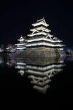 Het Kasteel Matsumoto-PB van Matsumoto, Japanse eerste historische kastelen in easthern Honshu, Matsumoto-Shi, Chubu-gebied, Naga stock afbeeldingen