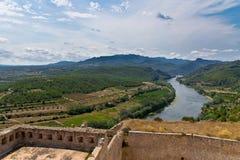Het Kasteel Miravet in Catalonië, Spanje Stock Foto's
