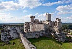 Het kasteel Ogrodzieniec. Stock Fotografie