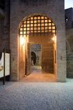 Het kasteel Pallotta in Caldarola, Italië Stock Foto's