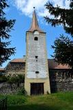 Het Kasteel Sà ¼ kösd-Bethlen, in 1636 wordt is een middeleeuws die gebouw in Racos, Brasov wordt gevestigd verklaard die royalty-vrije stock foto