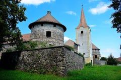 Het Kasteel Sà ¼ kösd-Bethlen, in 1636 wordt is een middeleeuws die gebouw in Racos, Brasov wordt gevestigd verklaard die stock fotografie