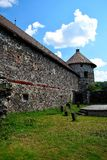Het Kasteel Sà ¼ kösd-Bethlen, in 1636 wordt is een middeleeuws die gebouw in Racos, Brasov wordt gevestigd verklaard die Het is stock afbeeldingen