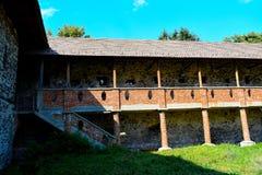 Het Kasteel Sà ¼ kösd-Bethlen, in 1636 wordt is een middeleeuws die gebouw in Racos, Brasov wordt gevestigd verklaard die Het is stock foto