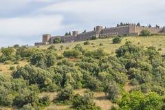 Het kasteel in Santiago doet Cacem Stock Afbeeldingen