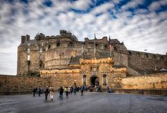Het Kasteel Schotland van Edinburgh Stock Foto