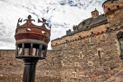 Het Kasteel Schotland van Edinburgh Royalty-vrije Stock Fotografie