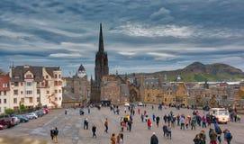 Het Kasteel Schotland van Edinburgh Stock Afbeelding
