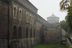 Het kasteel Sforzas - Milaan royalty-vrije stock foto