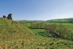 Het kasteel Shropshire van Clun royalty-vrije stock afbeeldingen