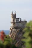 Het kasteel slikte Nest stock afbeeldingen