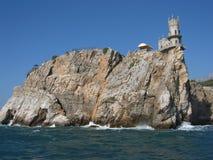 Het kasteel slikte nest, de Krim stock foto