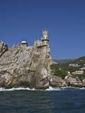 Het kasteel slikte nest, de Krim royalty-vrije stock afbeeldingen