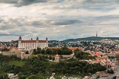 Het Kasteel Slowakije van Bratislava Royalty-vrije Stock Fotografie