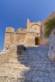 Het kasteel van Acrocorinth, Griekenland Royalty-vrije Stock Afbeeldingen